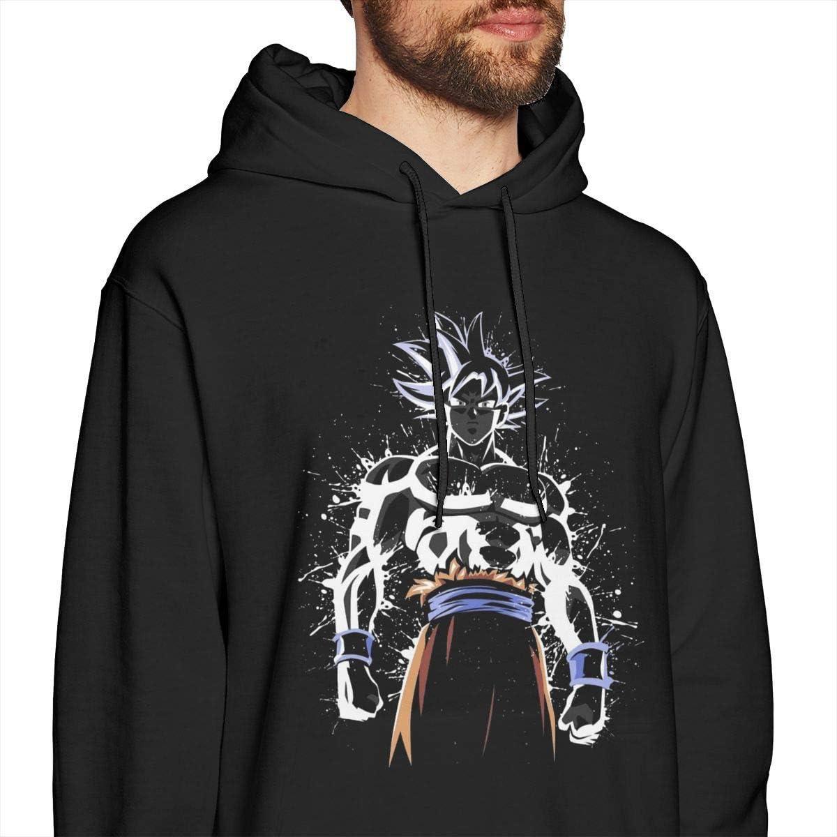 Dragon Ball Z Ultra Instinkt Goku Paint Splatter Herren Pullover Hoodies Rundhals-Langarm-Sweatshirt Schwarz Large|style1