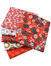 5PCS Cotton Pattern Fabric Cotton Fabric Small Flower Pattern Japanese Style Fabric for Crafts Sewing Quilting Patchwork 20x25cm/50x50cm