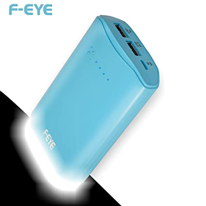 F-EYE 7800mAh Best Power Bank, External Battery Charger with LED Lamp (Made  In India)