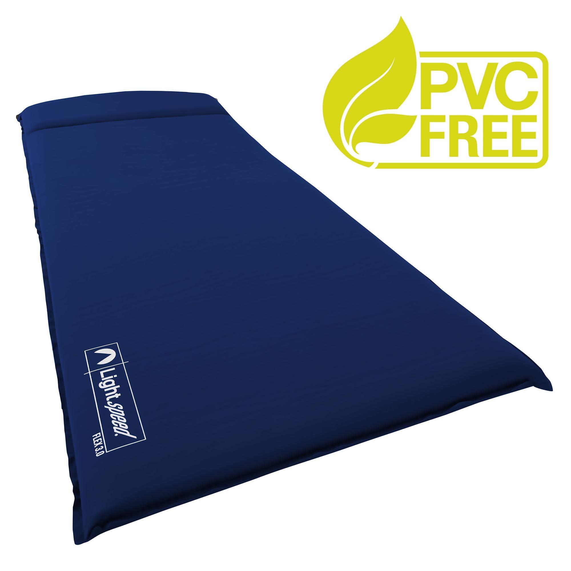 Lightspeed Outdoors XL Super Plush FlexForm Self-Inflating Sleep and Camp Pad, Dark Blue by Lightspeed Outdoors