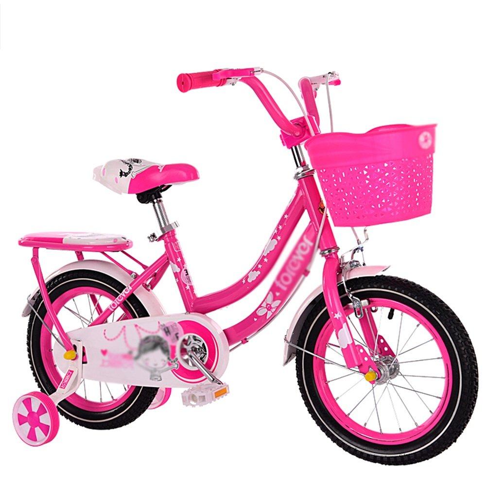 HAIZHEN マウンテンバイク 子供用自転車ピンク1スピードカラーコーディネートスポークホイール完全に密閉されたチェーンガードと簡単なリーチブレーキ 新生児 B07CG4B9D9A 18 inch