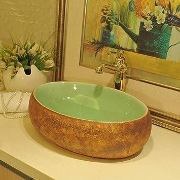 Amazon De Badezimmer Keramik Waschbecken Freestanding Bathroom
