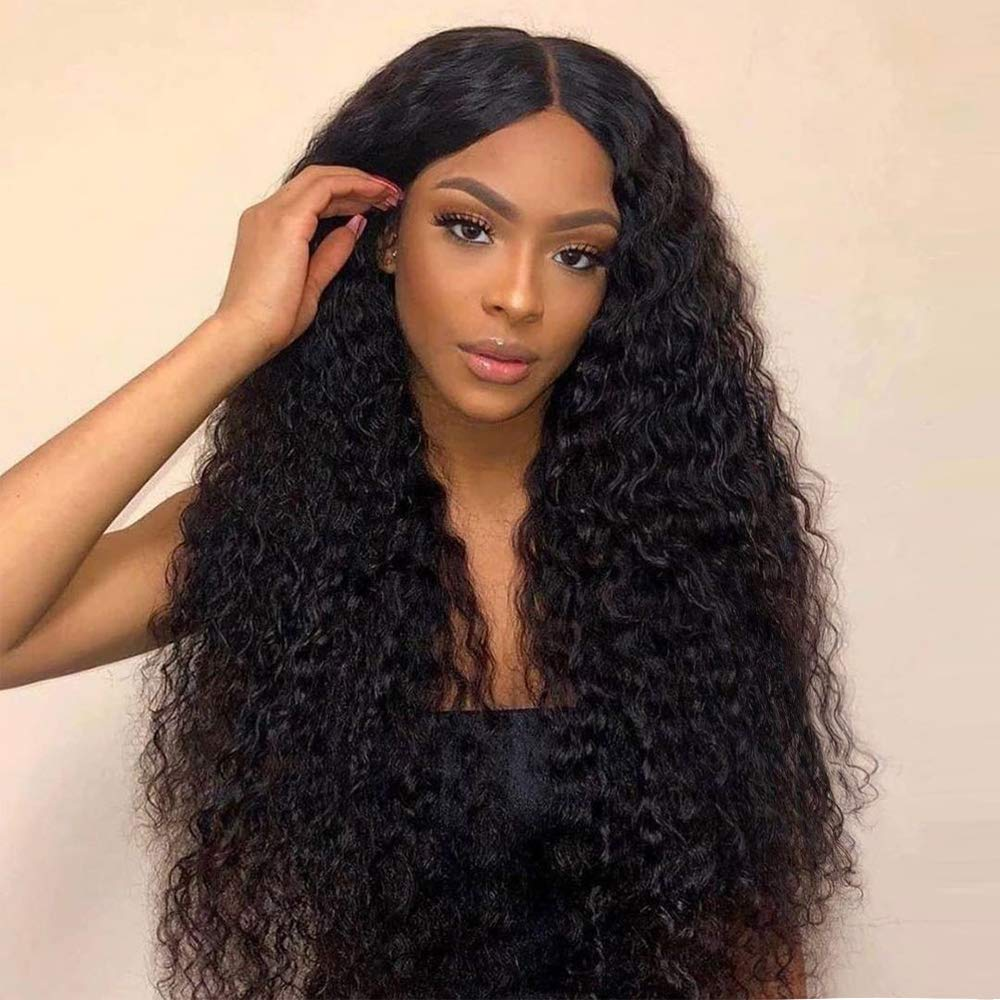 Women Black Brown Ombre Long Wavy Curly Wig Synthetic Hair Cosplay Costume Wigs