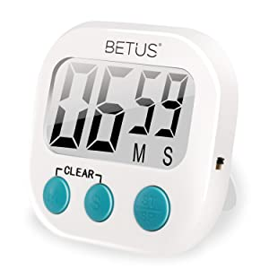 Betus Digital Kitchen Timer - Big Digits, Simple Operation - Magnetic Backing or Table Stand - Stopwatch Count Up and Down for Cooking Baking Sports Games Office