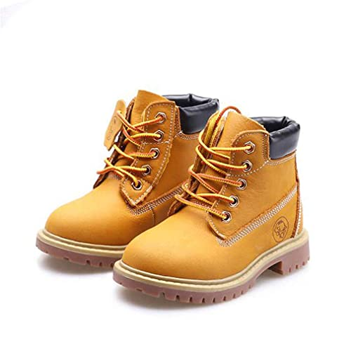 KVbaby Winter Martin Boots Boys Girls Waterproof Leather Winter Boots Kids  Outdoor Snow Boots with Two Closed Types