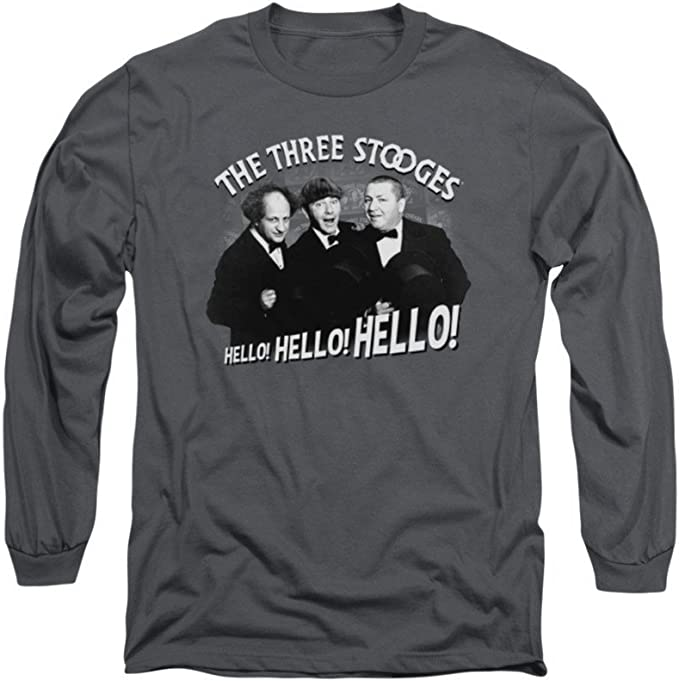 Three Stooges HELLO AGAIN Licensed Adult T-Shirt All Sizes
