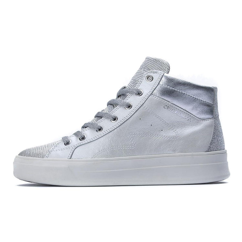 Crime London Zapatillas de Piel Para Mujer Blanco Bianco Perlato 37 EU