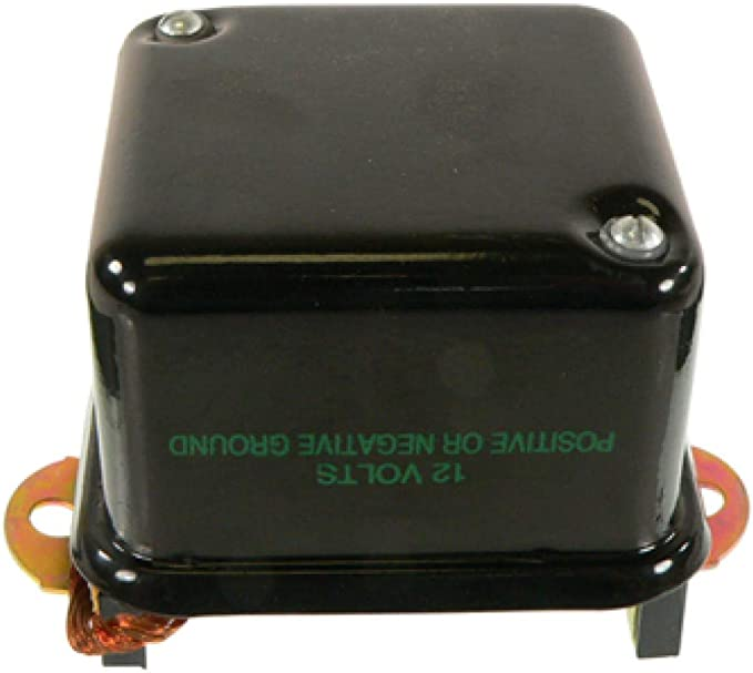 PIC: 8040-6172 EXTERNAL Generator Regulator Addl Info: 4th Terminal is Under the Base Addl Info: Mounts on Firewall New DELCO style REGULATOR