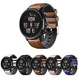 Pulseira Híbrida Couro e Silicone para Amazfit GTR 47mm - Samsung Galaxy Watch 46mm - Gear S3 Frontier - Gear S3 Classic - Ma