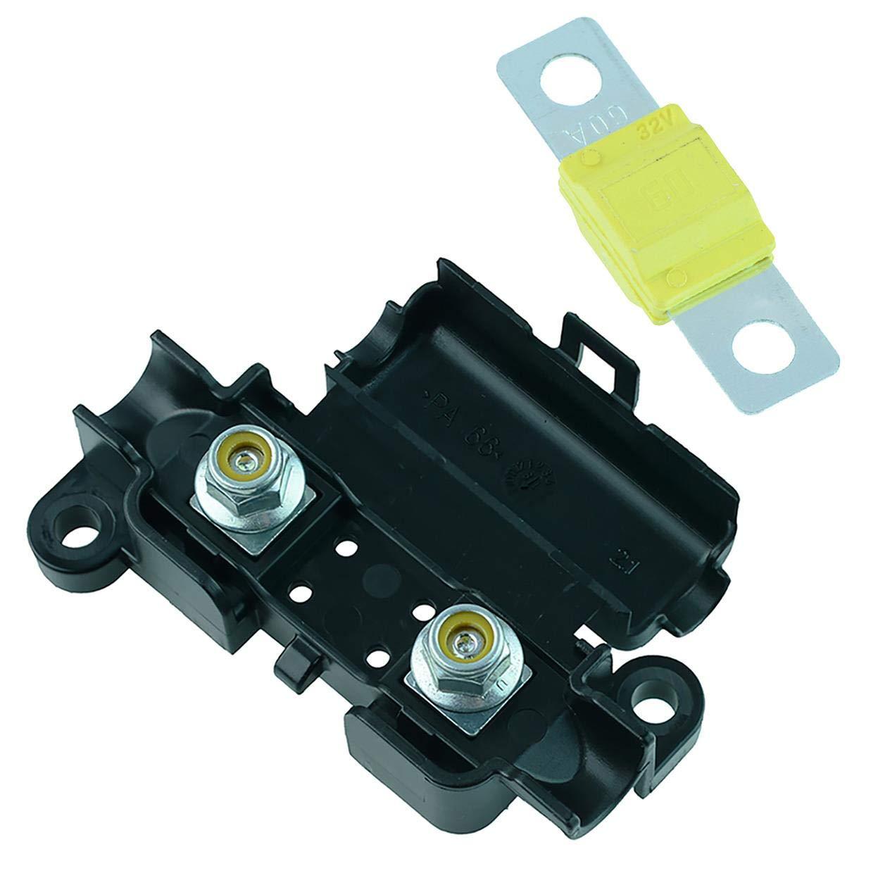100 A Blau Auto Auto KFZ 12 V Midi-//Streifensicherungshalter und Midi-Sicherung 30 A bis 150 A