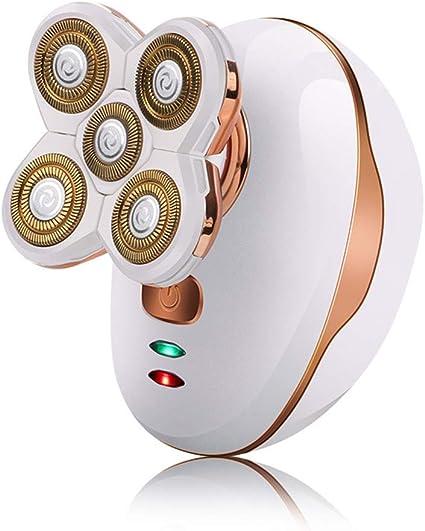 Afeitadora eléctrica Máquina de afeitar la cabeza Cinco cabezas ...
