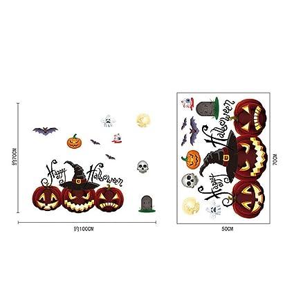 b429fa97876a Xue Parete di Halloween Decalcomania, Zucca Lanterna, Elettricità Statica  Sticker, Bar, Mall
