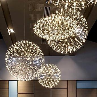 Licht Beleuchtung Deckenleuchten Pendelleuchten Kreative Led Kugeln Wohnzimmer Esszimmer Leuchten Sterne Feuerwerk Kronleuchter Diameter 120