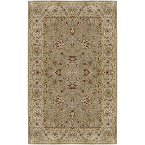 Surya Crowne CRN-6010 Classic Hand Tufted 100% Wool Desert Sand 6' x 9' Traditional Area Rug (Desert Sand Rug)