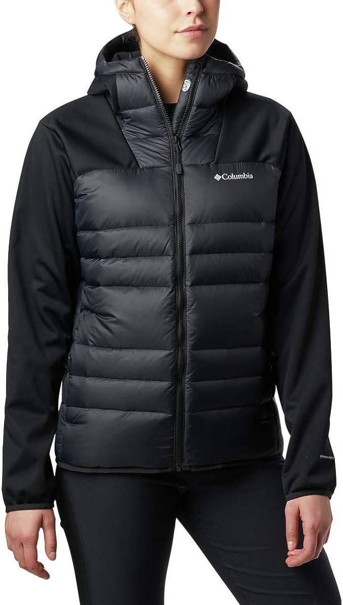Columbia 哥伦比亚 Centyear Creek 650蓬羽绒 拼接女式连帽夹克 L码2.3折$37.2 海淘转运到手约¥297