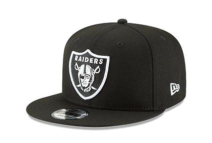 d5463dc270bf1 New Era NFL Oakland Raiders Shield Logo Block Back Snapback Cap 9Fifty  NewEra