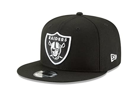 52615fb8aa6 New Era NFL Oakland Raiders Shield Logo Block Back Snapback Cap 9Fifty  NewEra
