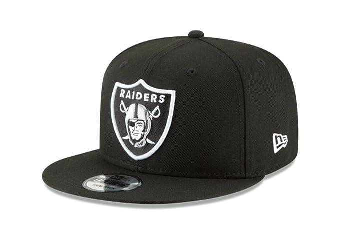 promo code 39bc8 100ee Amazon.com   New Era NFL Oakland Raiders Shield Logo Block Back Snapback  Cap 9Fifty NewEra   Clothing