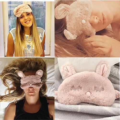 Ayygiftideas New Fashion Plush Rabbit Eye Mask Cute Sleeping Blindfold Eye Cover by Ayygiftideas (Image #2)