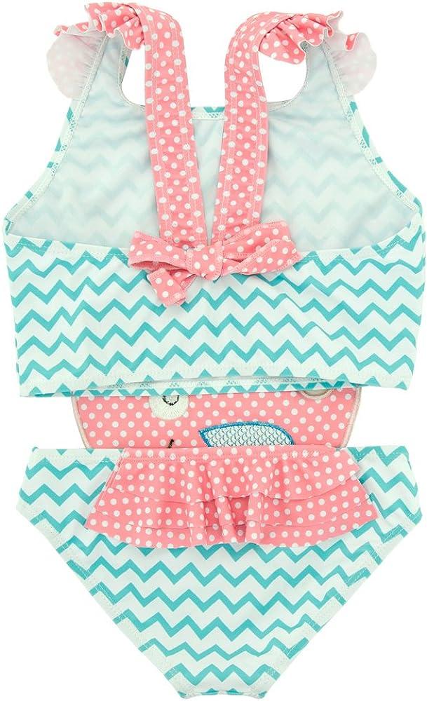 ThreeH Toddler Girlss One Piece Swimsuit Summer Beachwear Rash Guard BM02