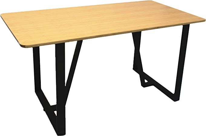 Homacer Lot De 2 Pieds De Table Treteau En Metal 71 1 X 68 6 Cm
