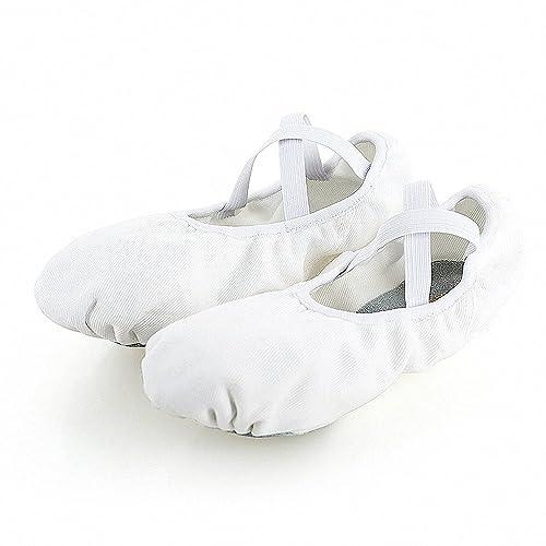 s.lemon elástico Lona Zapatillas de Baile Ballet para niños niñas Mujeres Hombres: Amazon.es: Zapatos y complementos