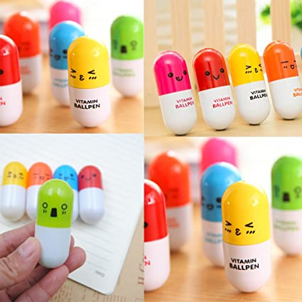 Kawaii School Supplies Party Favors Novelty Student Gifts-Cute Mini Emoji  Ballpoint Gel Pens Nurse Funny Small Gifts for Women Teacher Prizes for  Kids