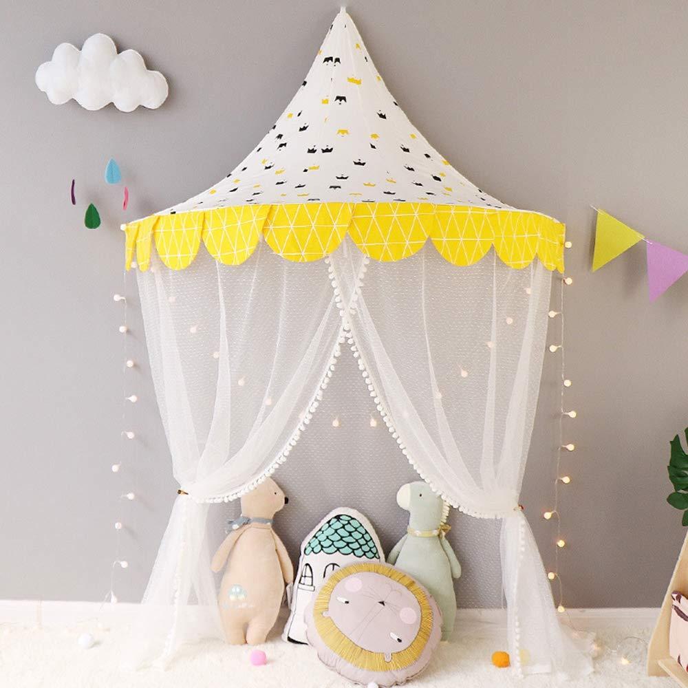 AUNLPB Tenda di Garza di Alta qualità, Tenda per Bambini per Ragazze o Ragazzi, zanzariera di insetticida per Interni, Tenda del Bambino Pieghevole,b