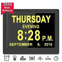 [2020 Upgraded] Digital Day Clocks,16 Reminders,Custom Alarms, Electronic Calendar...