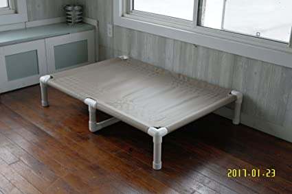 dianes k9 creations inc handmade large pvc frame raised dog bed with middle support - Dog Bed Frame