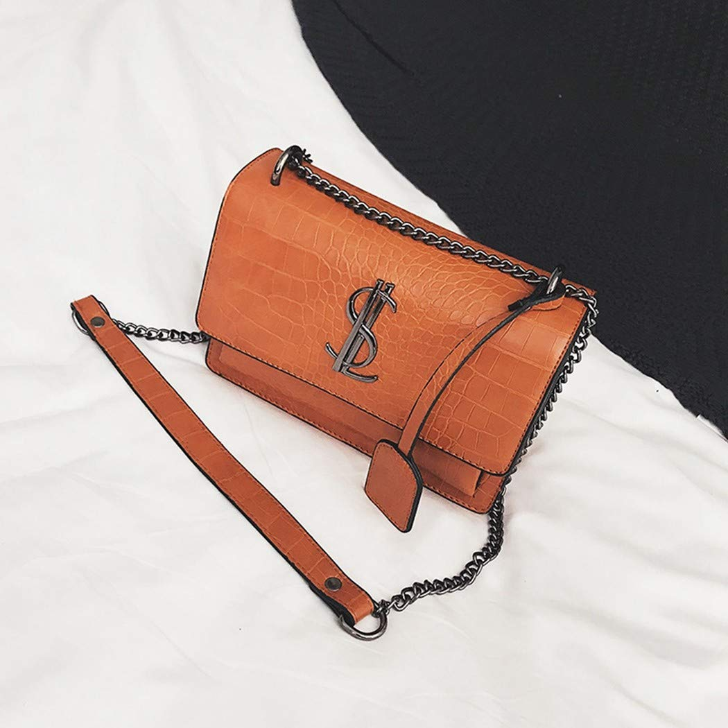 XIAOXINYUAN Frauen Umh/ängetasche Umh/ängetasche Damen Vintage Pr/äge Messenger Kette Kleine Quadratische Tasche