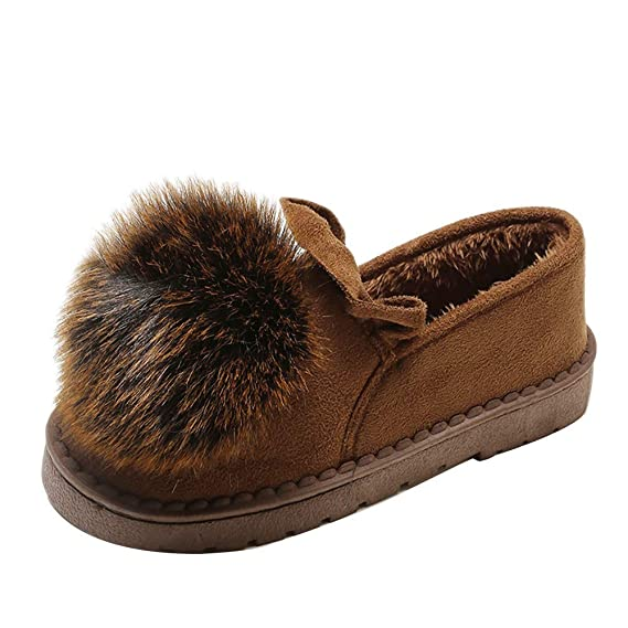Zapatos de algodón para Mujeres, Invierno cálido Zapatos de algodón pequeños para Mujer