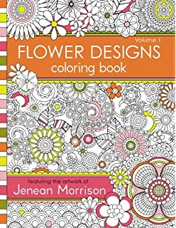 1 Flower Designs Coloring Book An Adult For Stress Relief