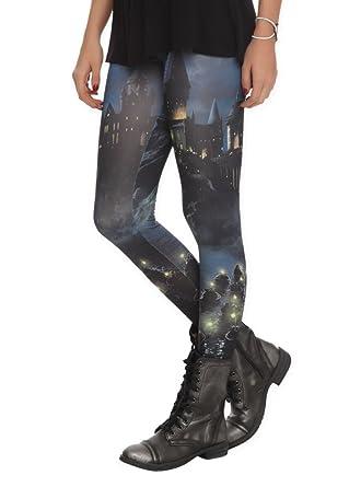 45ef49a9f815a Amazon.com: Harry Potter Hogwarts Leggings Dark Blue: Clothing