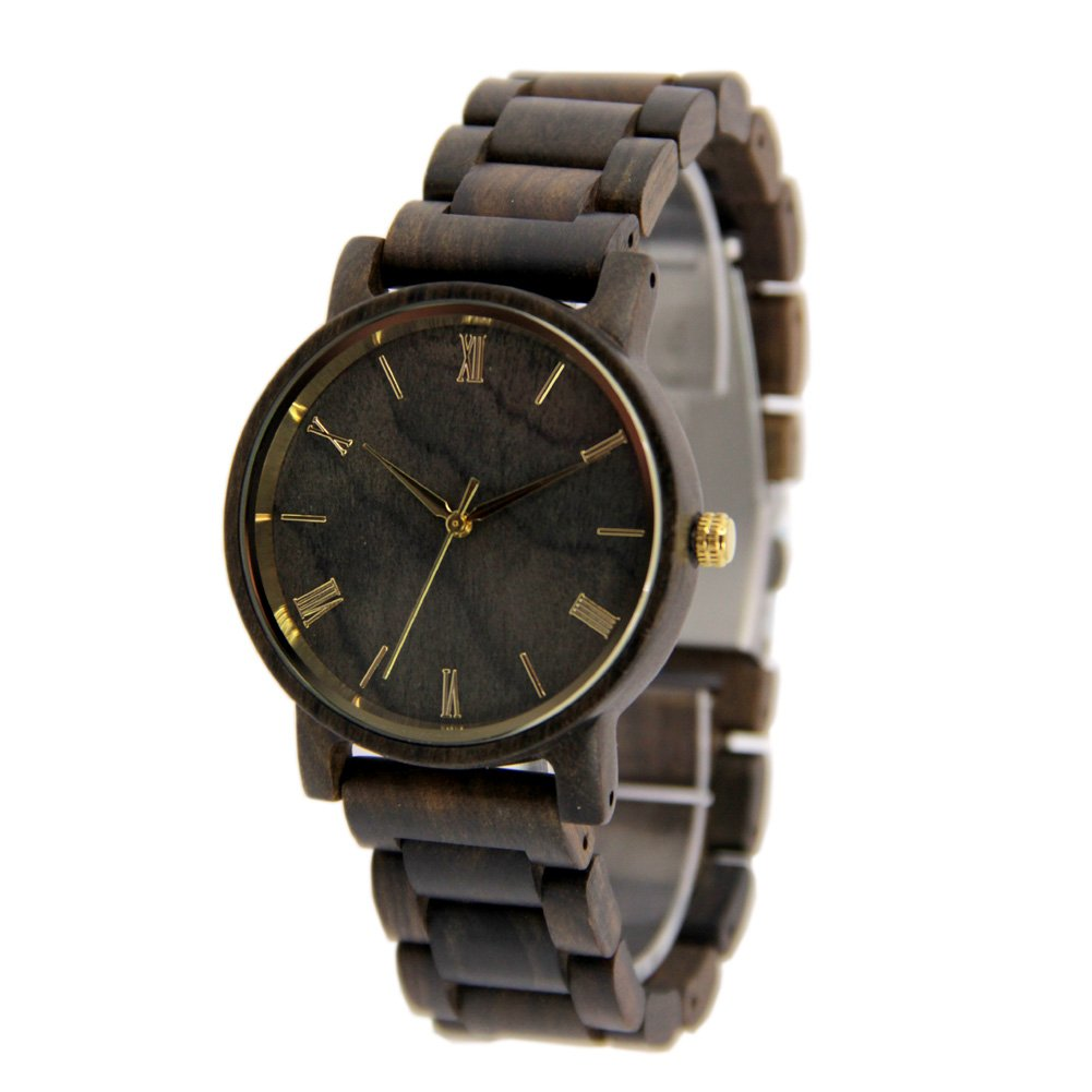 Unisex Wooden Watches Casual Wooden Gift Wirst Wathces Black