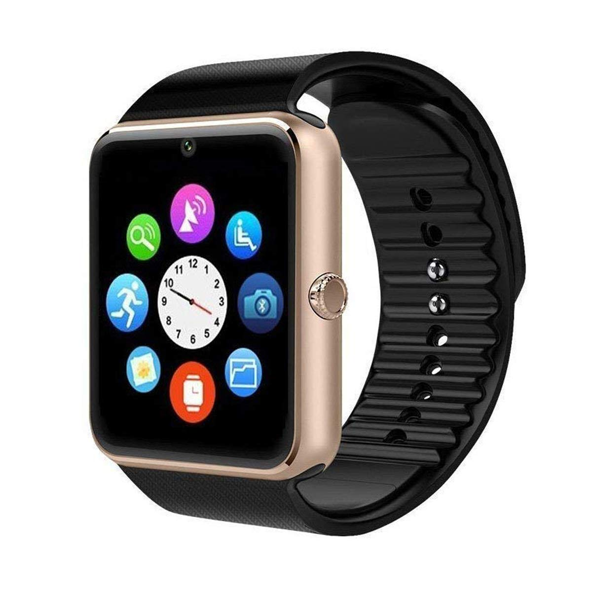 Mgaolo GT08 Smart Watch Smartwatch Bluetooth Sweatproof Touchscreen Phone with Camera TF/SIM Card Slot for Android and iPhone Smartphones for Kids ...
