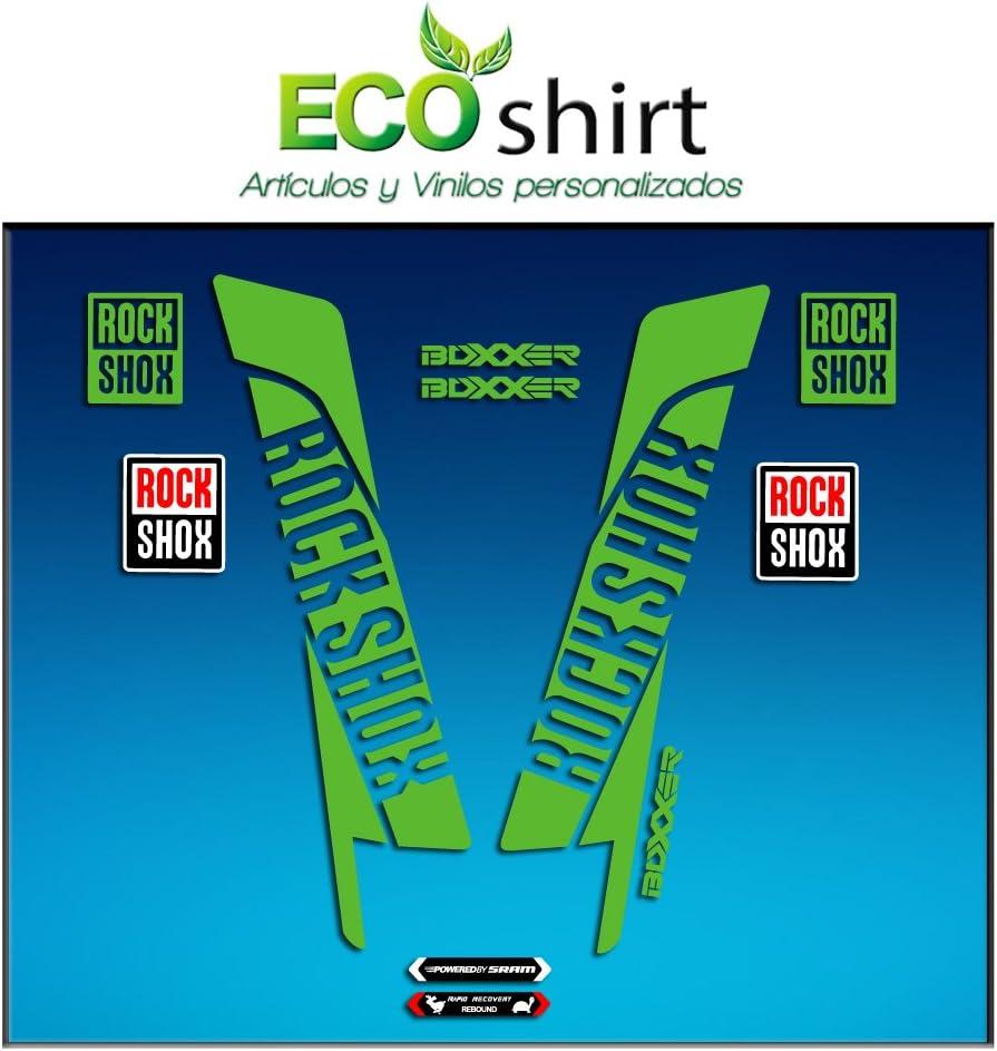 Gr/ün Ecoshirt 8K-SH0W-0EF8 Aufkleber Sticker Fork Rock Shox Boxxer Am45 Aufkleber Decals Autocollants Adesivi Forcela Gabel Fourne