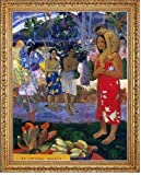 """21.05"""" x 28.05"""" Paul Gauguin Ia Orana Maria (also known as Hail Mary) framed premium canvas print reproduced to meet museum quality standards. Our Museum quality canvas prints are produced using high-precision print technology for a more accurate rep..."""
