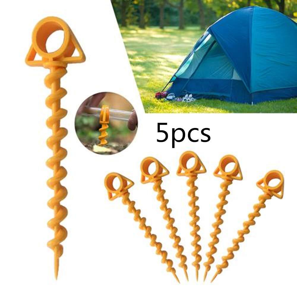 5 PCS Ultimate Ground Anchor Orange Schraube f/ür Camping