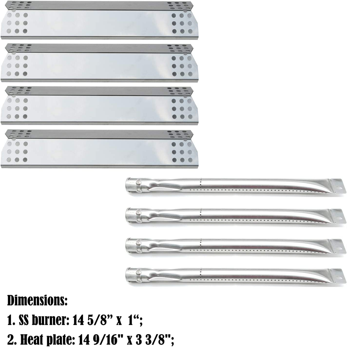 14 5//8/'/' Gas Grill Tube Burner Replacement Parts Grill Master 720-0697 Nexgrill
