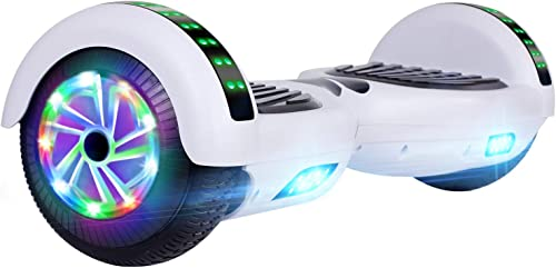 UNI-SUN Hoverboard for Kids, 6.5 Self Balancing Hoverboard with Bluetooth and LED Lights, Bluetooth Hover Board