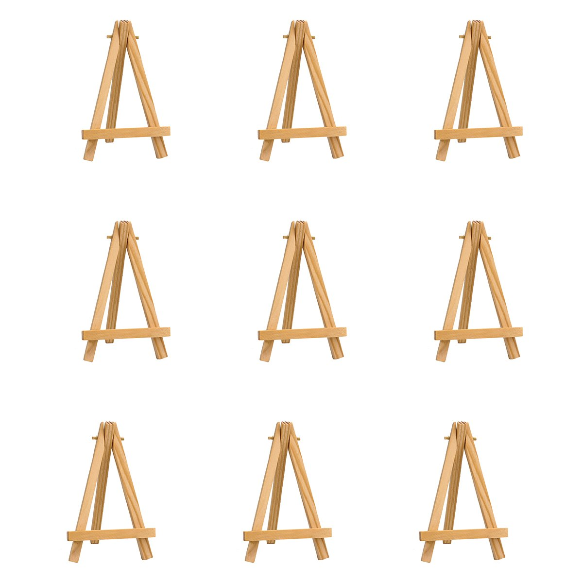 Pack of 9 Mini Easels Natural Wood Decorative Display Funny Table Setting Place Card Holder 5 Inch Weixi