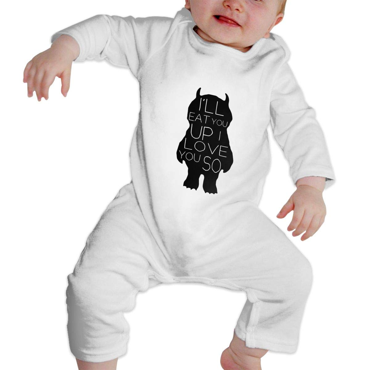 Ill Eat You Up I Love You So Newborn Baby Long Sleeve Bodysuits Rompers Outfits