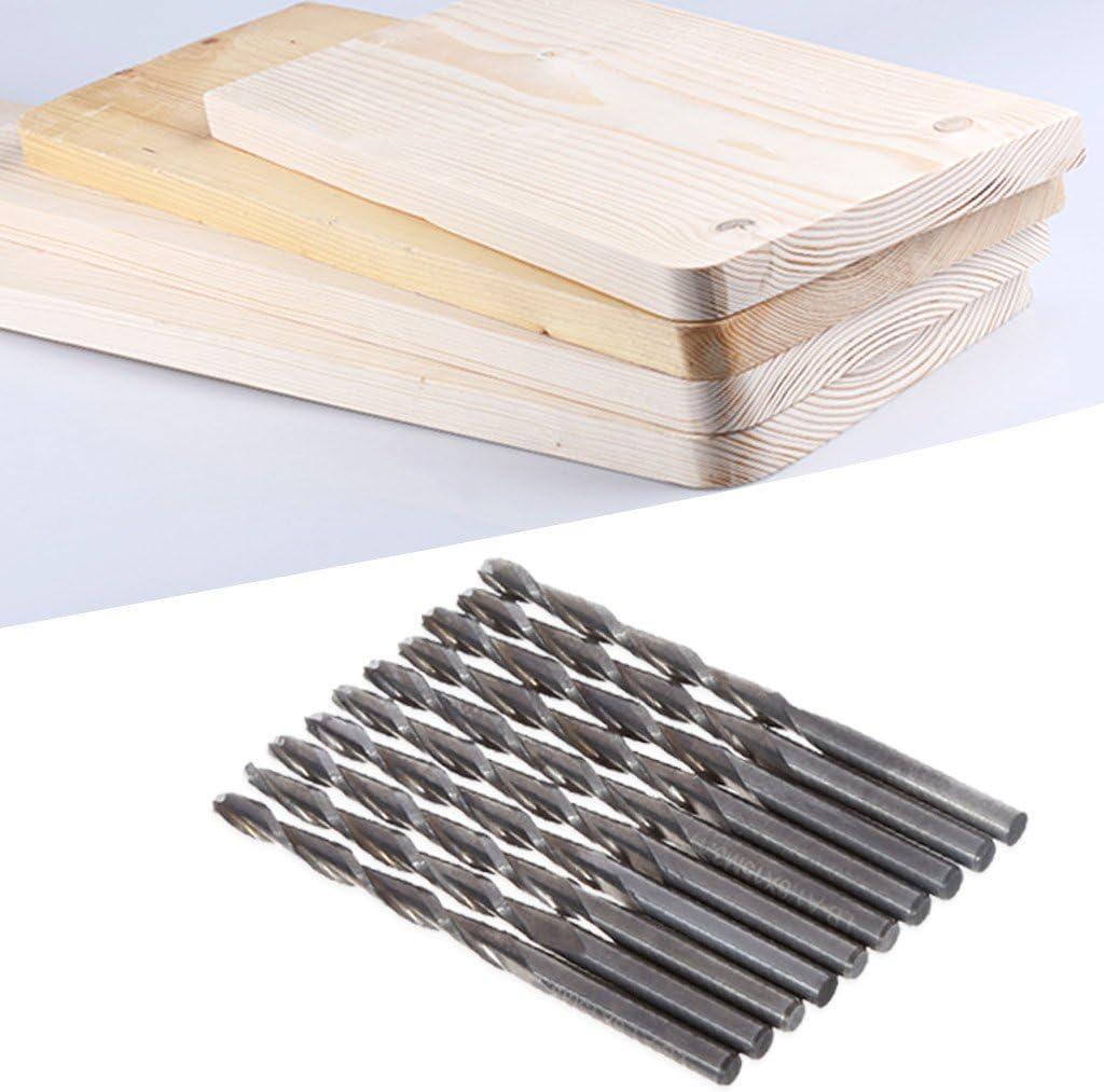 Yuxinger 10 Pcs 1//8 3.175mm Double Flute Spiral Carbide Flat Nose End Mill CNC Router Bits 32mm CEL