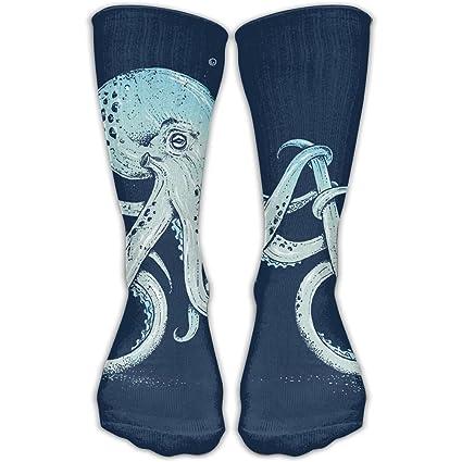 QWEDGTGF Medias Calcetines Largos de la pantorrilla Octopus Bicicleta Baloncesto Deporte Zapatos Botas Crew Calcetines para
