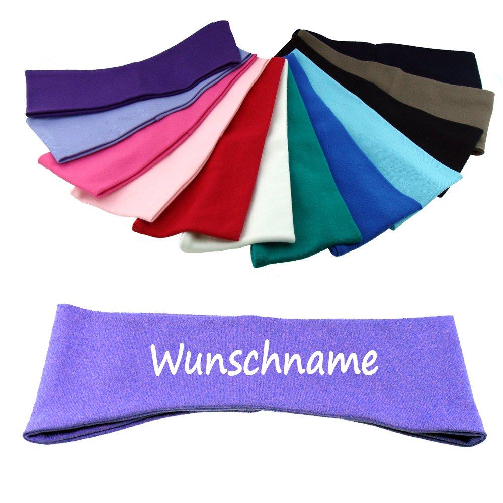 Stirnband mit Namen oder Text personalisiert f/ür Baby oder Kind aus 100/% Baumwolle royal