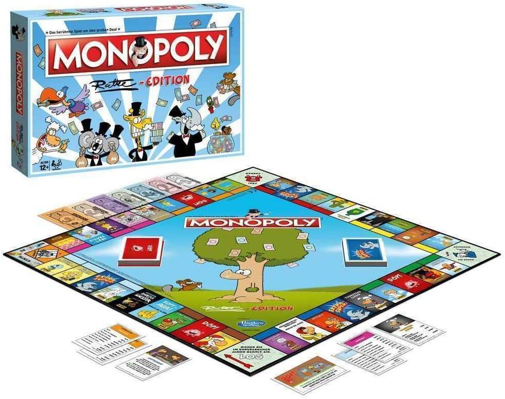Winning Moves WIN45144 Edition-Das beliebteste Brettspiel im Cartoon Style para Toda la Familia Monopoly: Ruthe, Multicolor: Amazon.es: Juguetes y juegos