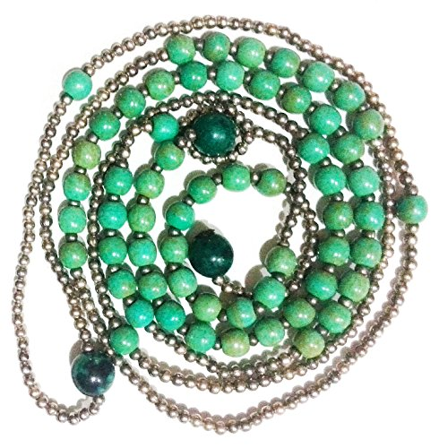 Bijoux De Ja Simulated Green-Turquoise Howlite Beads Y-Necklace 34 Inches by Bijoux De Ja (Image #1)
