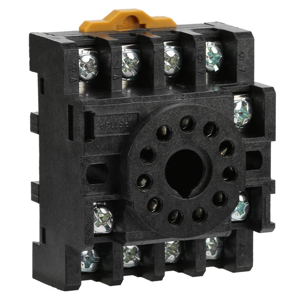 JQX-10F 3Z 3NO 3NC General Purpose Relay 10A 3PDT 11 Pins With Socket PF113A