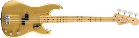 Fender American Original 50s Precision Bass - toque de arce - Aztec Gold (incluye estuche): Amazon.es: Instrumentos musicales